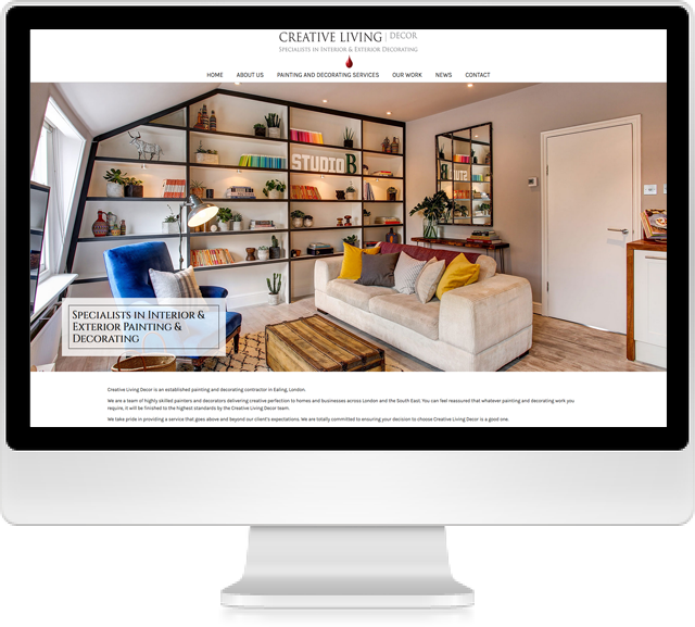 Creative Living Decor Website On Desktop