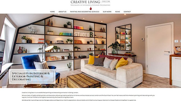 Creative Living Decor Website