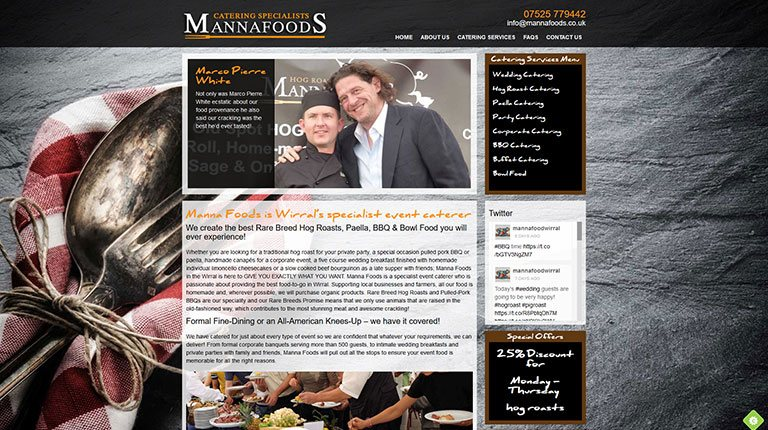 Mannafoods Website