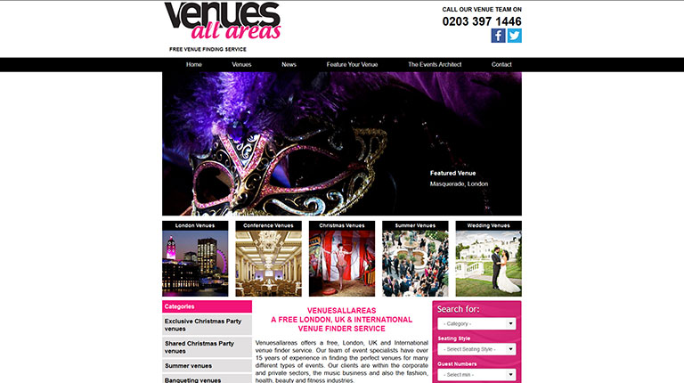 Venues All Areas Website